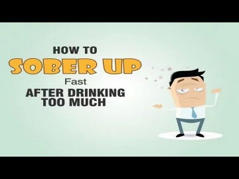 How to sober up fast after drinking too much