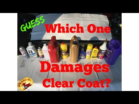 Will brake fluid damage my cars paint or clear coat????