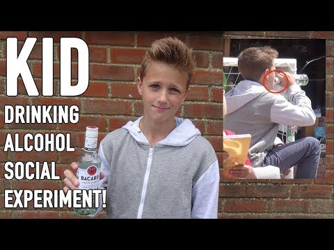 Kid drinking alcohol social experiment