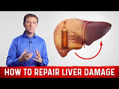 How to repair liver damage after alcohol?: dr.berg on liver cirrhosis