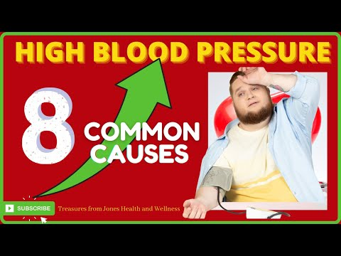 8 common causes of high blood pressure // food alcohol exercise stress