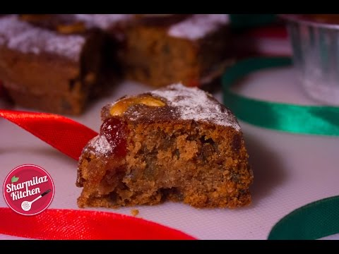 Christmas fruit cake without alcohol - cake in pressure cooker - sharmilazkitchen