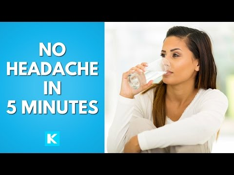 How to get rid of a headache or migraine by just drinking water