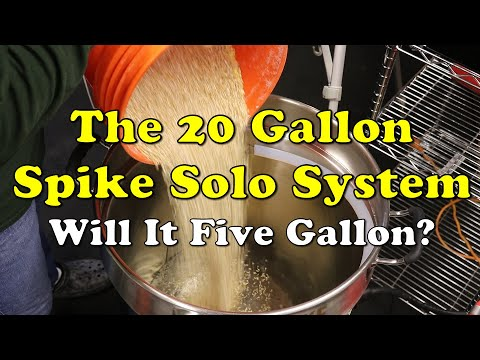 Can the 20 gallon spike solo brew 5 gallon batches of beer?