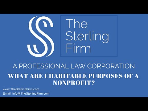 What are charitable purposes of a nonprofit?