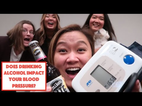 Does alcohol lower your blood pressure? *her blood pressure went to 69/40* i asian blush girls