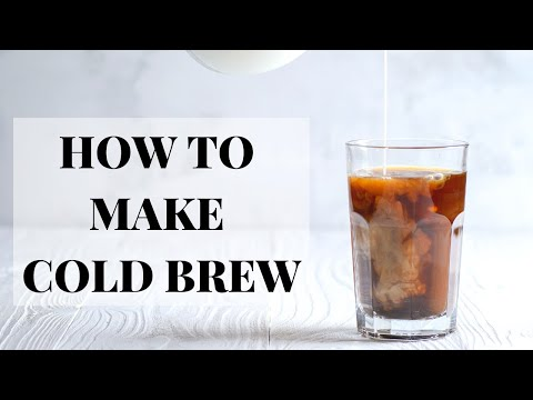How to make cold brew coffee at home!