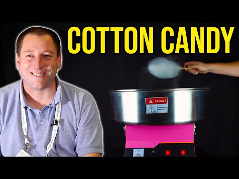 The physics of cotton candy (candy floss)