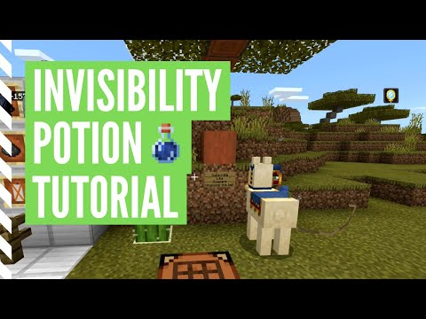 How to make invisibility potion in minecraft (potion of invisibility tutorial)